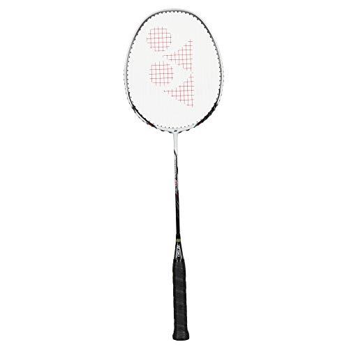 Yonex Nanoray 60Fx besaitet g Badmintonschläger Badmintonschläger Weiß - Schwarz (Yonex Band)