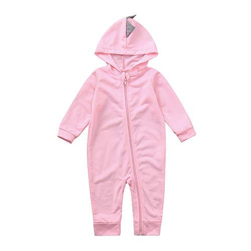 Baby Kapuzenpulli Honestyi Infant Kleinkind Baby Mädchen Jungen Dinosaurier Hoodie Strampler Zip Kleidung Overall (Roas,12M)