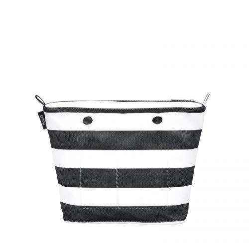 O bag sacca interna fantasia righe bicolor nero