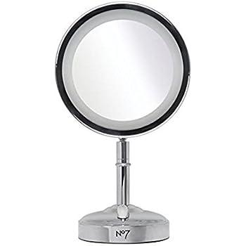 No 7 Illuminated Make Up Mirror New Improved Amazon Co Uk