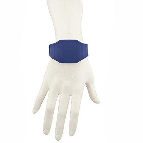 Lux Accessoires Argenté et bleu Strass cinq Fleurs Collier plastron