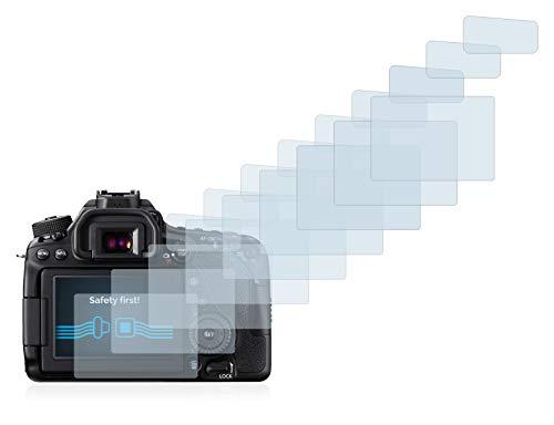 Savvies Schutzfolie für Canon EOS 80D [18er Pack] - klarer Displayschutz