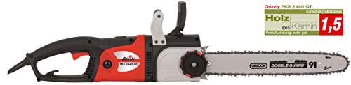 Grizzly Elektro Kettensäge EKS 2440 QT Motorsäge mit 2400 Watt, 395 mm Schnittlänge, Mettallgetriebe