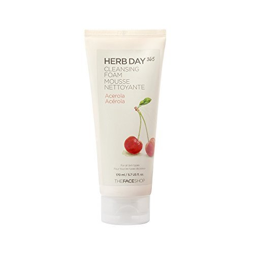 THE FACE SHOP Herb Day 365 Cleansing Foam Acerola - Face Shop-herb