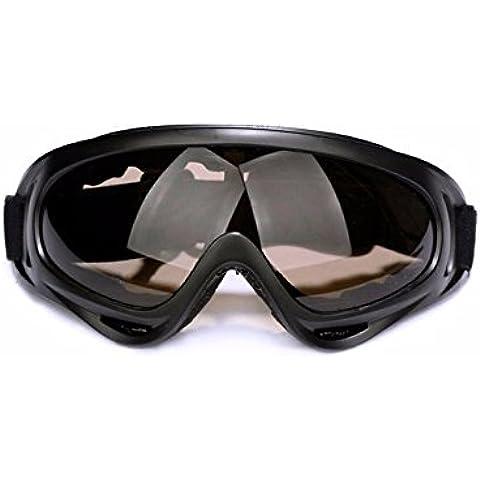 ZHGI Motocicleta paraviento gafas anti-impacto de espejo exterior perdido gafas de esquí equitación deportes gafas