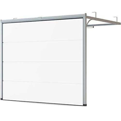 Garagentor | Sektionaltor | Woodgrain | Weiß RAL 9016 | Größe 2500 mm x 2125 mm (Besten Websites Großhandel Die)