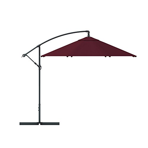 PARAMONDO parasol parabanana / banane parasol, 3m, rond, couleur bordeaux