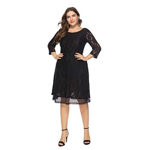 MERICAL Kleid Damen Übergroßes Vintage Floral Lace Plus -
