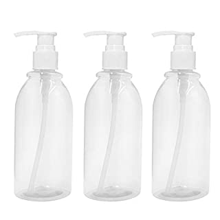 asentechuk® 3 x 500 ml transparent Kunststoff Lotion Pumpe Flasche mit Spender Pumpe Shampoo Flasche