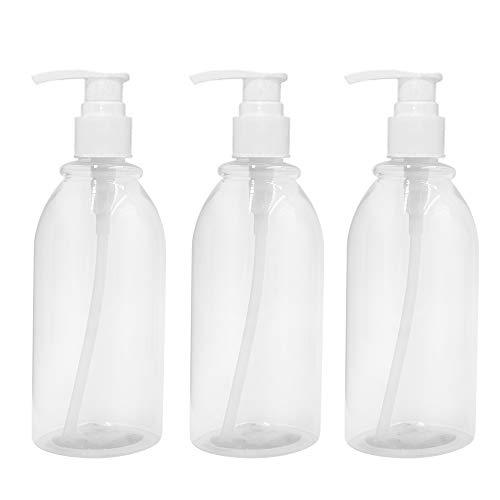 Lotion-spender-flasche (asentechuk® 3 x 500 ml transparent Kunststoff Lotion Pumpe Flasche mit Spender Pumpe Shampoo Flasche)
