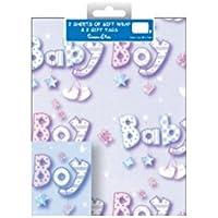 2Confezioni Regalo e bigliettini, qualità totale di 4fogli di carta regalo Tag e 4+ uno Inspirational Magnete, Baby