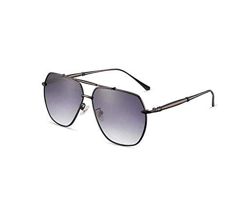 ZTMN Polarisierte Sonnenbrille Mode Big Box männer Fahren lässig Sonnencreme uv Schutz Brillen (Farbe: Gun Frame schwarz grau stück)