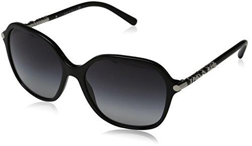 Burberry Unisex BE4228 Sonnenbrille, Gestell: schwarz, Gläser: grau-verlauf 30018G), Large (Herstellergröße: 57)