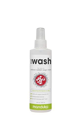 Manduka Organic Yoga Mat Cleaner, 8 oz, Lemongrass and Sage