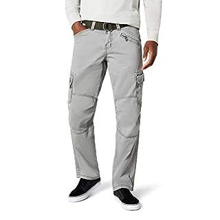 Timezone Herren Cargo Hose BenitoTZ pants incl. belt, Gr. 48 (Herstellergröße: 32/30), Grün (dusty olive 4175)