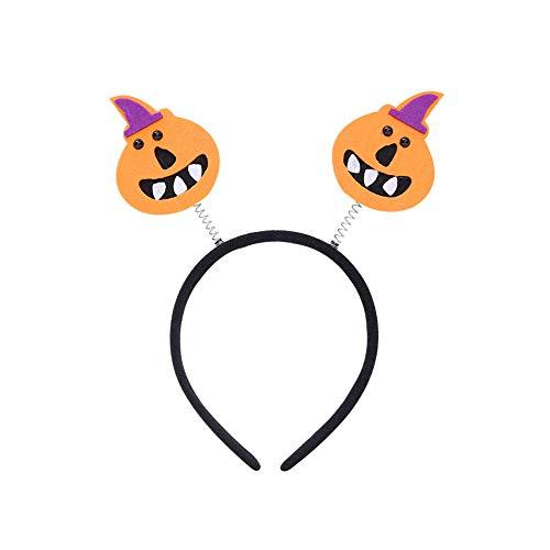 (Hilai 1pcs Halloween-Schädel-Entwurf Kostüm Kopfstück Kürbis - Celebration Verkleiden Partei Stirnband - Maskerade Festliche Dekoration Gesicht Kopfschmuck Accessoire.)