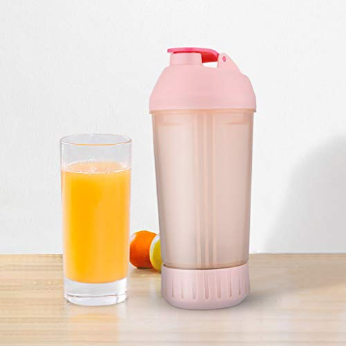 Entsafter Flasche, CHshe 380ml Tragbare Saftschale Roller Manuelles Mischen Mixer Shaker Flasche Wasserflasche