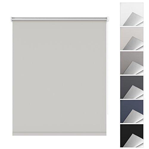 SBARTAR Store Enrouleur Occultant pour Fenêtre 45 x 170 CM Beige - Montage Facile sans Perçage, Isolant Thermique et Résistant aux Rayons Ultraviolets - 2 Types de Fixation
