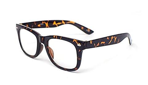 Ultra® Tiger/Leopard Print Classic Style Multi couleur clair objectif cadres classiques, parfait pour les nerds (Vetro Occhiali)