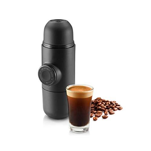 [Alta calidad] Diseño portátil de la máquina de café - Mini Espresso - Compatible con cualquier tipo de café (Nespresso, marca de distribuidor Carrefour, Intermarché, Monoprix, etc.) - Calidad A ++ - Ideal para ir de excursión, acampar o pescar ligero y d