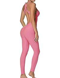 77a641d45ade8 FITTOO Mallas Pantalones Deportivos Leggings Mujer Yoga de Alta Cintura  Elásticos y Transpirables para Yoga Running