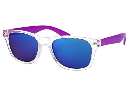 Alsino Kinder Sonnenbrille Verspiegelt 'Junior' für Mädchen & Jungen, Gläser in Optiker-Qualität (K-107), Farbe: Lila - 12 cm Bügellänge
