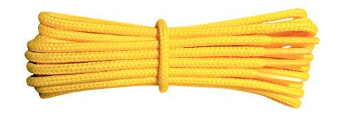 Fabmania Lacci Gialli per stivali- 4 mm rotondo- ideale per scarpe da trekking e trekking - Dr Martens - Lunghezze da 90 a 240 cm - fatto in Inghilterra
