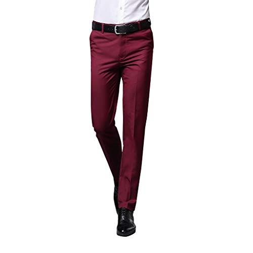 Herren Lange Business Hose Slim Fit Chino Hose Straight Leg Business gerader Regular Schnitt Jeanshose Chinohose Reißverschluss - Ein Rabatt Herren Duft