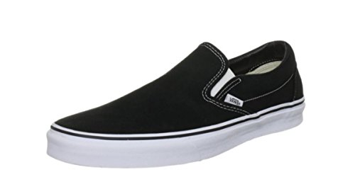 Vans U Classic Slip-on, Baskets mode mixte adulte Noir/toile blanche