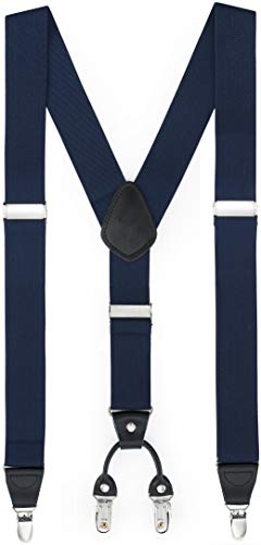 GENTS ONLY Herren Hosenträger Y-Form 01750 (02 Blau)