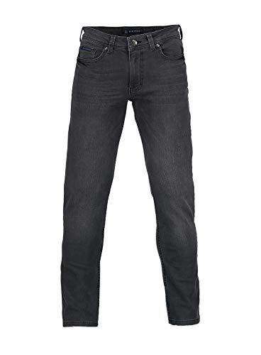 4 Hosen (Barbons Herren Jeans - Bügelleicht - Slim-Fit Stretch - Business Freizeit - Hochwertige Jeans-Hose 04-Grau 42W / 34L)