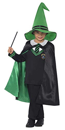 (Smiffys, Kinder Jungen Zauberer Kostüm, Pullover, Umhang und Hut, Größe: L, 21616)
