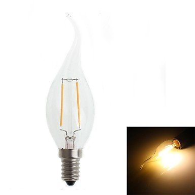 FDH 2W E14 LED bombillas de filamento CA35 2 180-200 lm decorativo blanco cálido 220-240 V CA