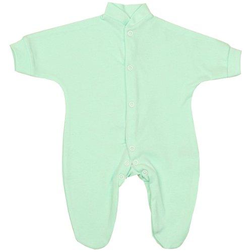BabyPrem Bébé Grenouillère Plaine Preemie Vêtements 0-3.5Kg AQUA P2