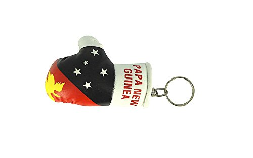 Schlüsselanhänger Boxhandschuh Auto Motorrad Flagge Schlüssel Jahrhundert Neue Guinee Papua (Boxhandschuhe Jahrhundert)