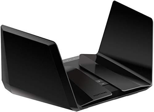 Netgear Nighthawk RAX120-100EUS Wifi 6 WLAN Router (802.11ax, 2,2 GHz-Quad-Core-Prozessor, 5G-Multi-Gigabit-Port, AX12 12-stream Dual-Band Router, Alexa kompatibel, USB 3.0, App Steuerung) schwarz