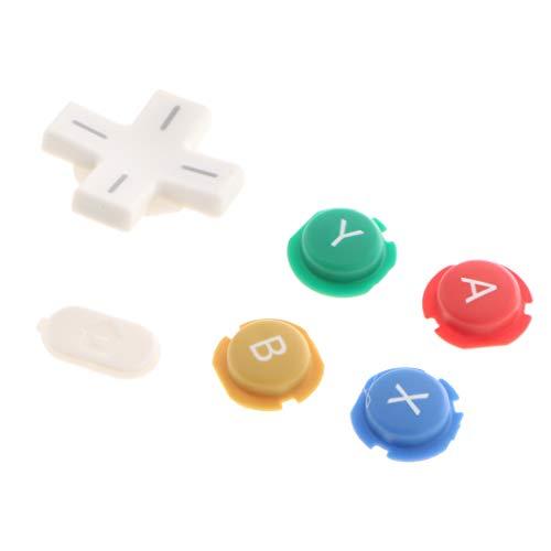 perfk Set Knopf komplett ABxy Home Kreuz Schlüssel Knopf Auslöser Zubehör für Nintendo New 3DS XL LL Controller
