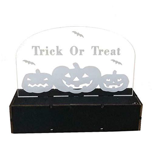Elf Holz Kostüm - Halloween,TianranRT-LED leuchtet Holz Acryl Lasergravur Spukhaus Elf Grabstein Hause Urlaub Dekoration Lichter dreidimensionale Ornamente