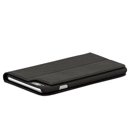 """Etui iPhone 8 Plus / Etui iPhone 7 Plus Noir - CASEZA """"Oslo"""" Coque Cuir Végétalien Housse Folio à Rabat Portefeuille Livre en Simili Cuir pour Apple iPhone 8 Plus & 7 Plus - Fermeture Magnétique Noir iPhone 6/6s Plus"""