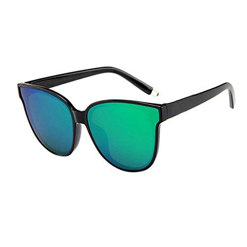 Dragon868 Sonnenbrille Damen Designer Oversized Flat Top Cateye Gespiegelte Sonnenbrille (C)