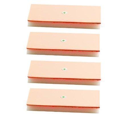 Suturing Doctor 4 x Multi-Schicht Nahtauflage Training Set - Künstliche Haut Hautfarbe - Freie Packung mit 20 Nadeln Mit Faden + Freier 1 x Nadelhalter - Üben Sie Sofort!