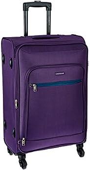 Aristocrat Nile Polyester 66 cms Purple Suitcase (STNILW66PPL)