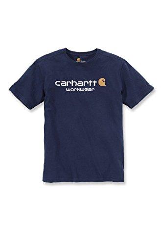 Carhartt Workwear 101214 T-shirt da lavoro, con logo, a maniche corte, 101214
