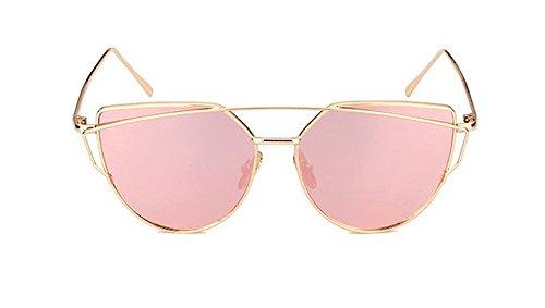 Akabela donne moderni occhio di gatto uv400 twin-beams metallo telaio polarizzate occhiali da sole sunglasses