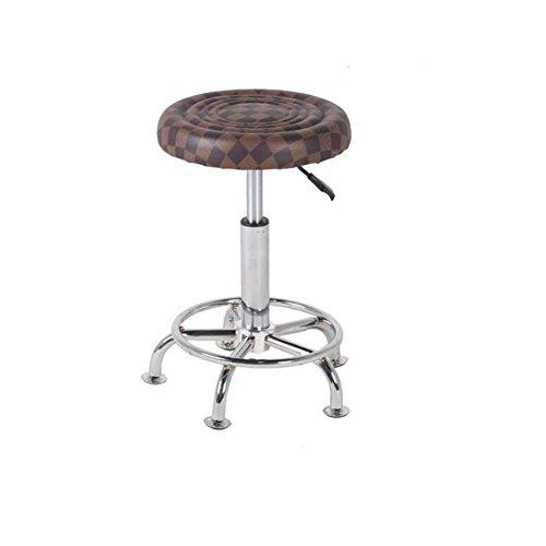 Hocker Einstellbare Küche (CJC Barhocker Essensstuhl hoch Fuß Hoch und Tief einstellbar Unterseite Metall Fußnagel ( Farbe : 4 ))