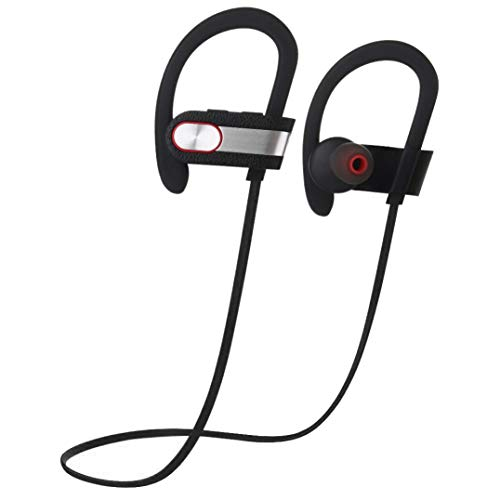 Y56 V7 Ohrstöpsel Sport Wireless Kabellos Kopfhörer in Ear Headsets Bluetooth 4.1 Kopfhörer für Smartphone iPhone Samsung HTC Huawei (Silber)
