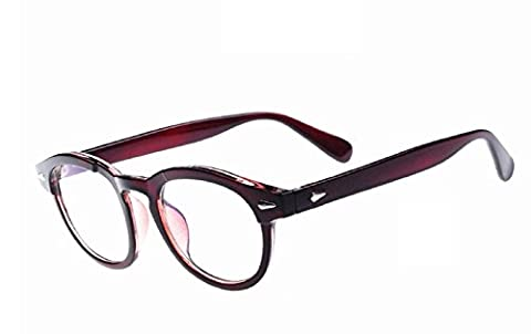 (Brown) Brillen Modell Johnny Depp nicht Moscot Retro Style Abgestufte