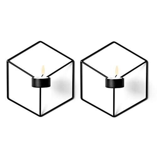 Nrpfell Geometrischer 3D Kerzen Halter, Wand montierter Metall Kerzen Halter, Wand Verzierungen (Kerzen Halter 7#) - Kerze-halter-wand-dekoration
