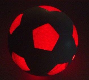 Light Up LED balón de fútbol–utiliza 2hi-bright LED luces, tamaño 5