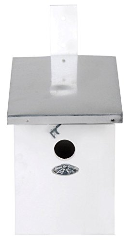 Esschert nk 40 w per voliera in legno luisa bianco 33 x 17 x 21 cm